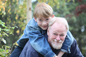 Photograph of the author and his son